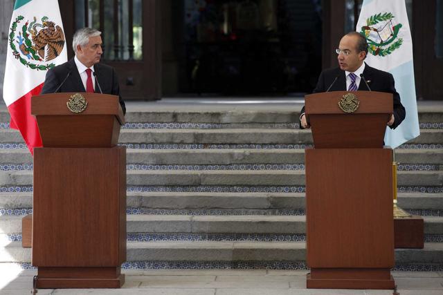 México y Guatemala juntos contra   el crimen