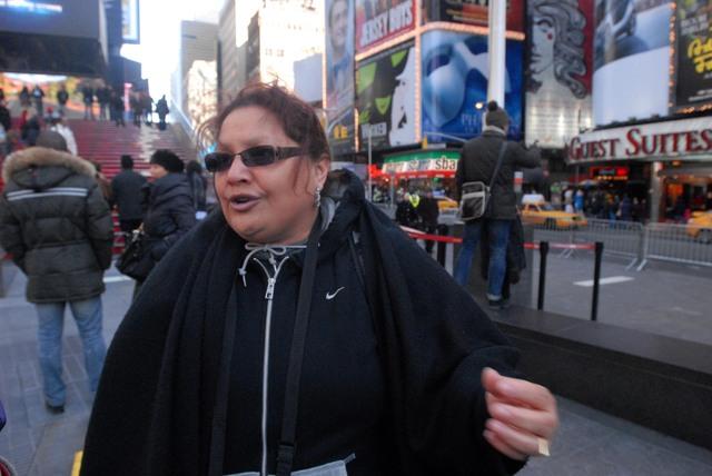 Listo operativo en Times Square