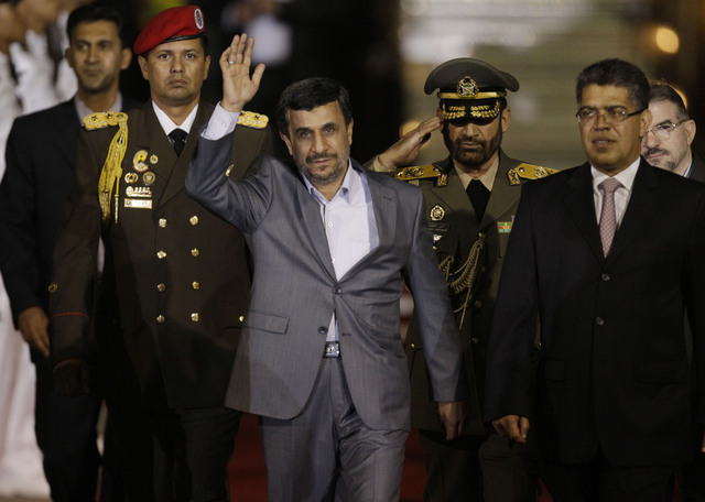 Mandatario iraní llega a Caracas