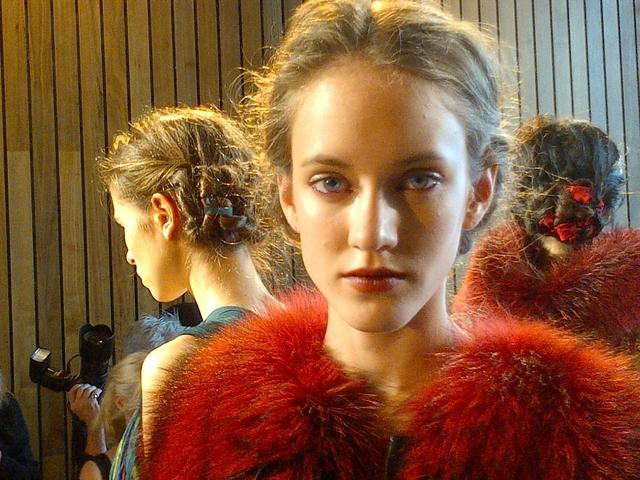 Las modelos del desfile de Christian Cota.