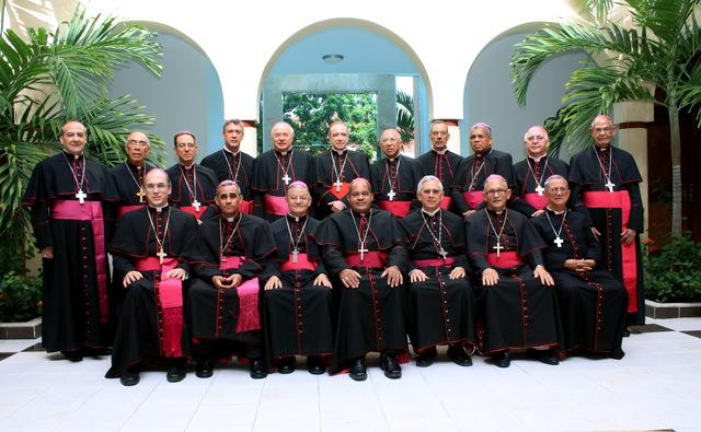 Los obispos dominicanos al término de la Conferencia del Episcopado.
