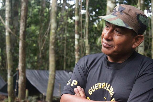 'Artemio', líder del grupo terrorista Sendero Luminoso.