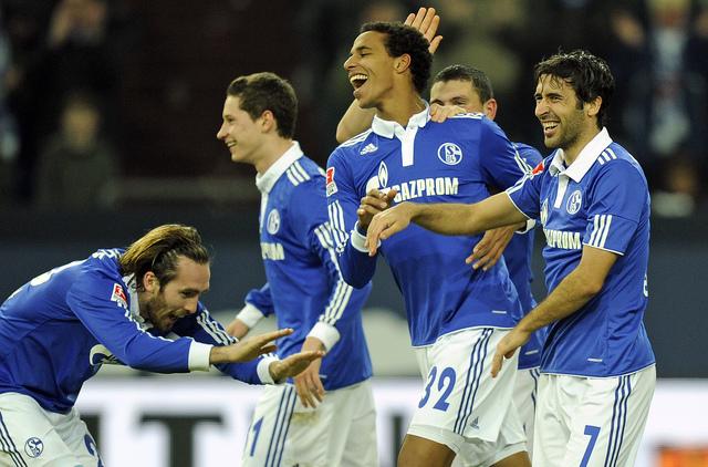 Raúl, goleador del Schalke.