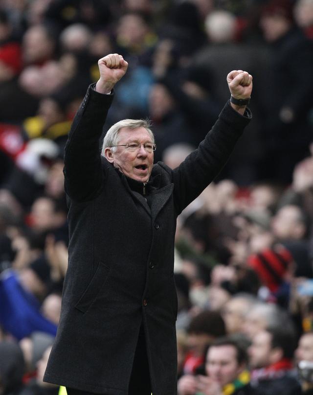 Entrenador Alex Ferguson.