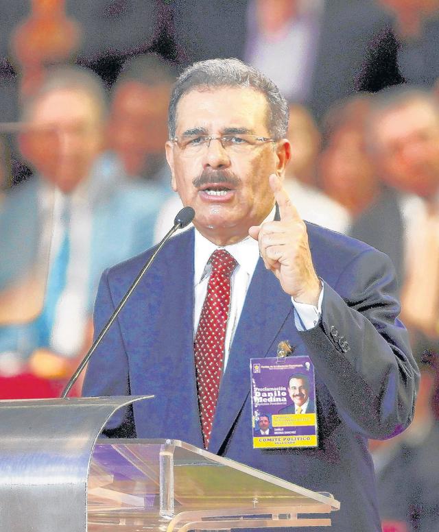 El candidato oficialista Danilo Medina.
