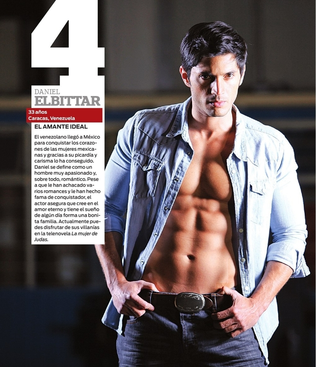 El actor venezolano Daniel Elbittar ocupa el puesto número cuatro.