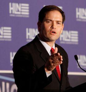 Senator Rubio refers to himself as 'vice president'
