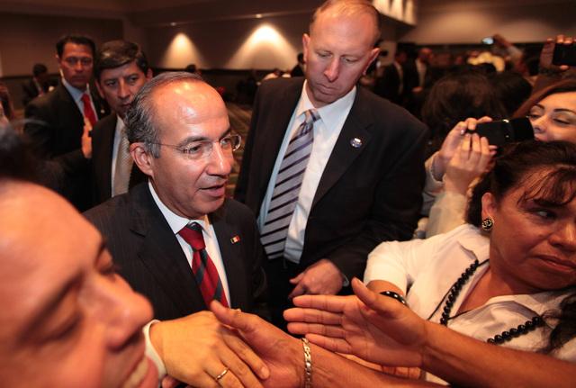 Calderón está de visita en los EEUU