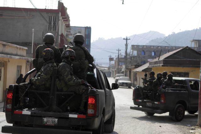 Poblado de Guatemala en estado de sitio