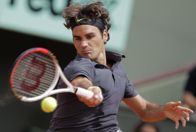 El suizo Roger Federer en su partido de ayer frente al rumano Adrian Ungur.