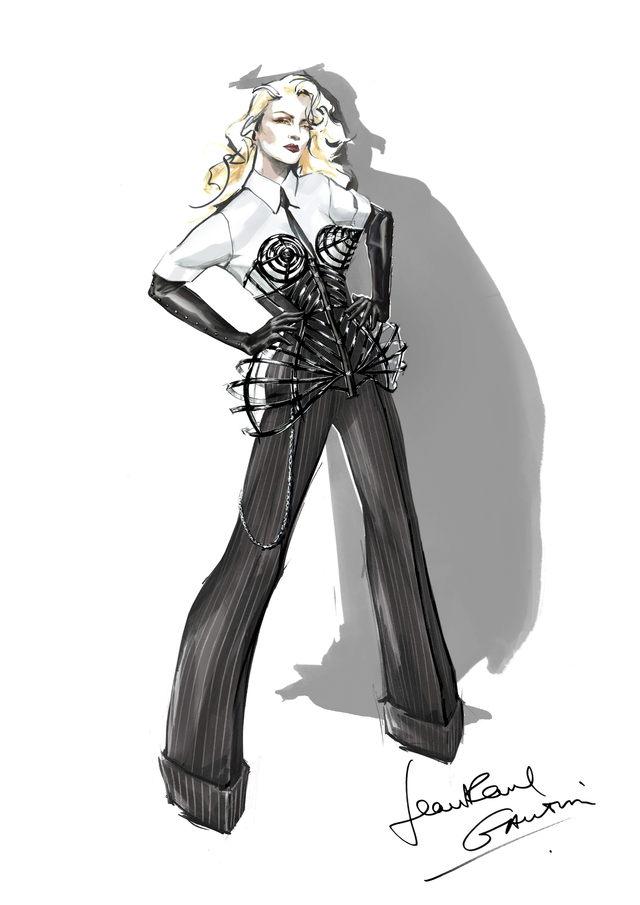 Madonna con Gaultier