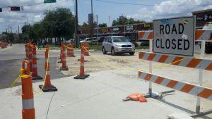 Negocios sufren por obras del tren ligero en Houston