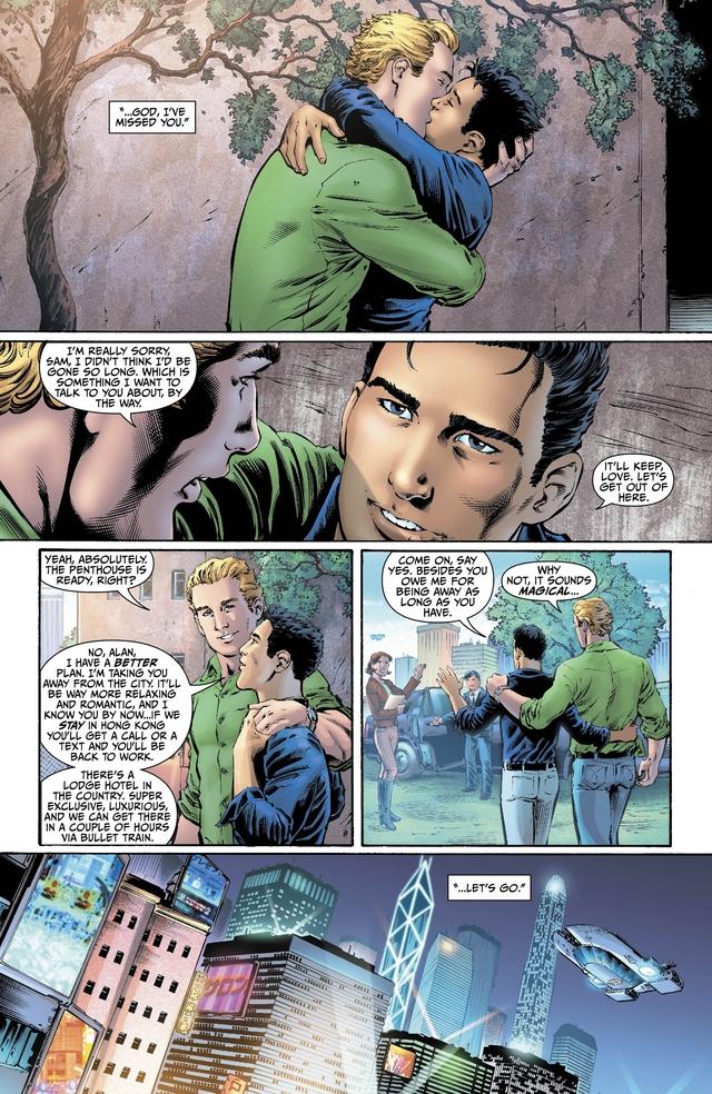 En  del segundo número de 'Earth 2', se revela que el personaje de Linterna Verde  es gay.