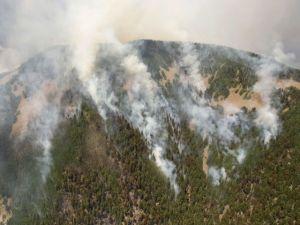 Incendio continúa en Nuevo México