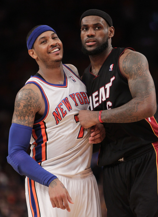Carmelo Anthony (izq.) y LeBron James (der.) repiten con EEUU.