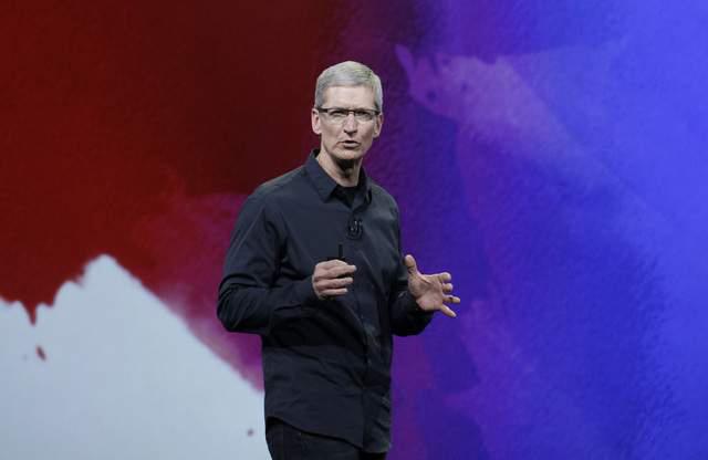 Tim Cook, presidente de Apple, durante un evento realizado en San Francisco.