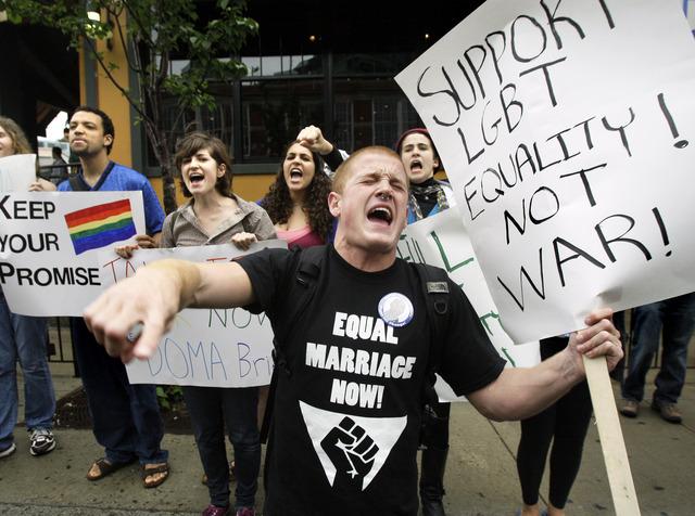 Activistas  gay a nivel nacional presionan para abolir la ley  DOMA.