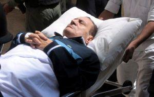 Mubarak se halla en  coma
