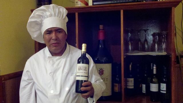 Fidel Caizaguano: chef de comida francesa