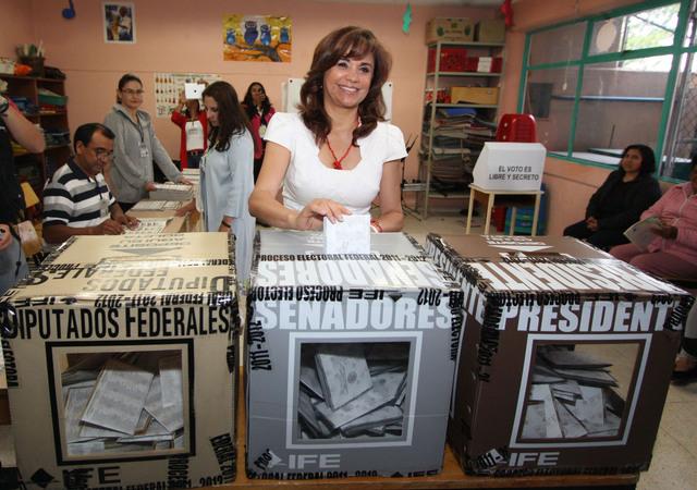 El senado en  Puebla en poder del PRI