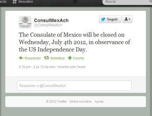 Suspenderá actividades mañana Consulado mexicano en McAllen