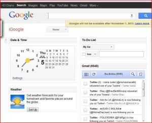 iGoogle agoniza