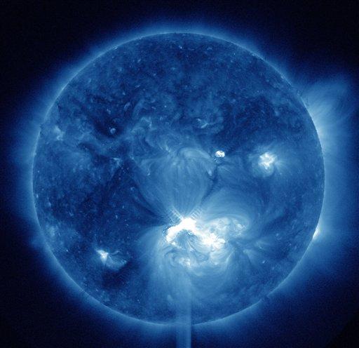 Imágenes de una tormenta solar.