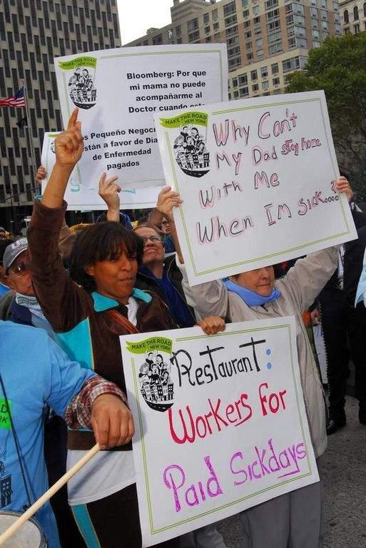 Neoyorquinos a favor de pagos por días de enfermedad