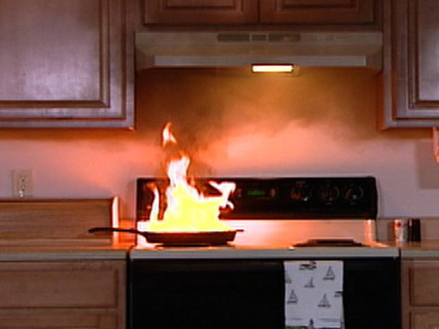 Cocina libre  de incendios