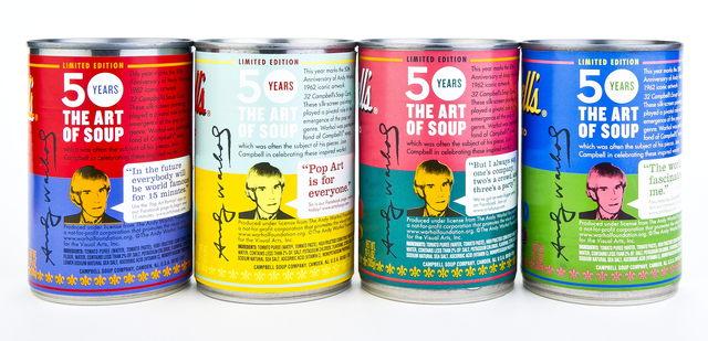 50 años de la Sopa  de  Warhol