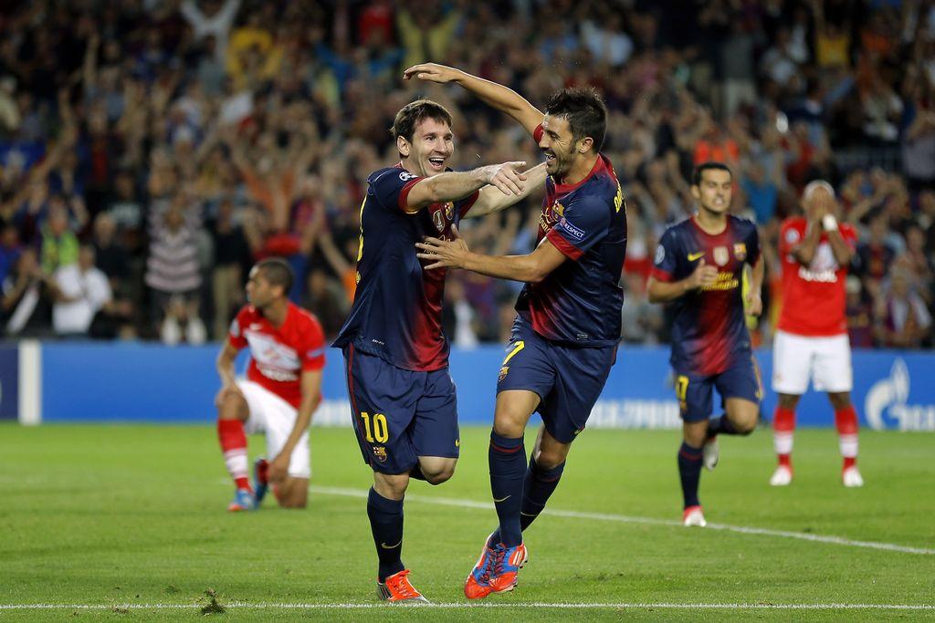 Messi salva al Barcelona en debut de Champions (fotos)