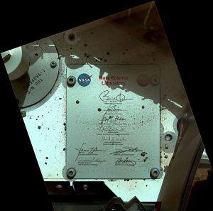 Curiosity llevó un autógrafo de Obama a Marte