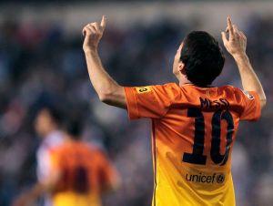 Tres goles de Messi en victoria del Barcelona (Fotos)