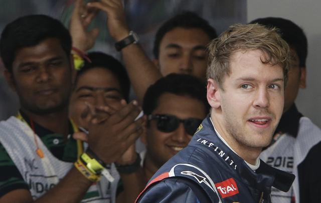 Vettel gana la pole en GP de India