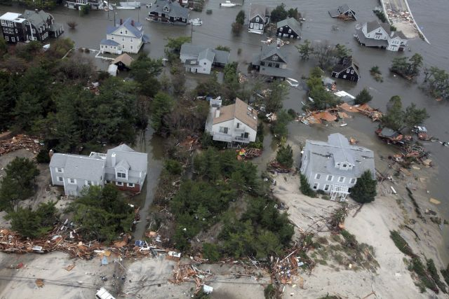 Sandy: Obama viene hoy a Nueva Jersey (Fotos aéreas)