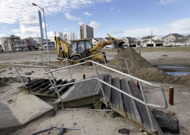 Los primeros vecinos regresan a Atlantic City tras Sandy (fotos y video)