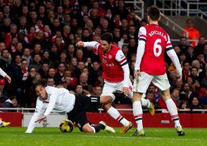 Emocionante empate entre Arsenal y Fulham (Fotos)