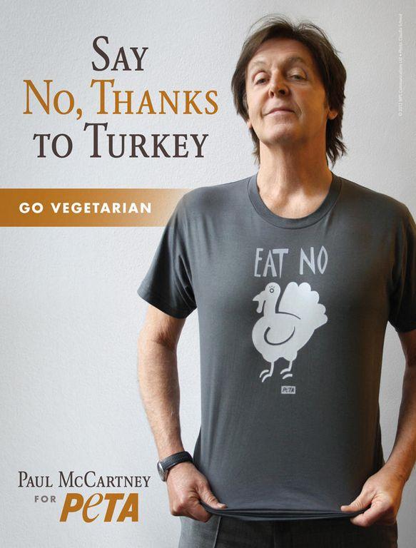 Paul McCartney apoya campaña para no comer pavo (Video)