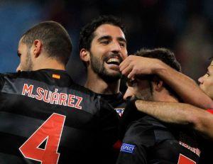 Los 'colchoneros' aseguran clasificación en la Liga Europa (Fotos)
