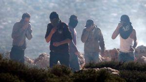 Enfrentamientos entre israelíes y palestinos en Cisjordania