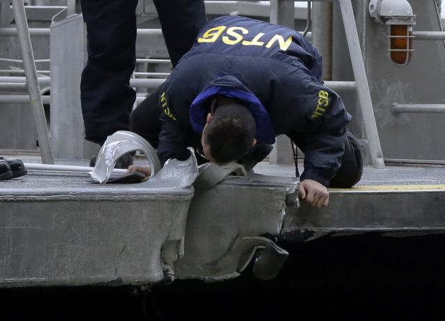 Hospitalizan a 74 pasajeros del ferry que chocó en Manhattan