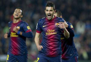 Villa se reivindica en goleada del Barça en Copa del Rey (Fotos)