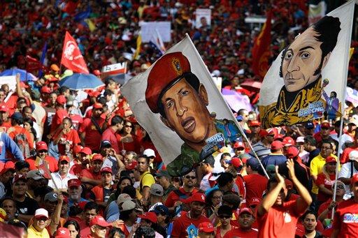 Chavistas celebran 55 años de democracia en Caracas