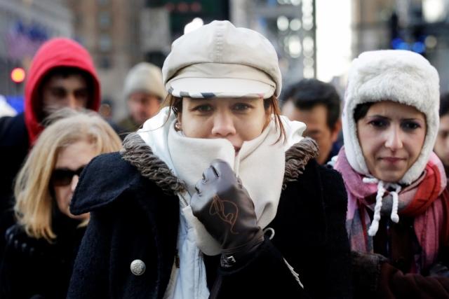 El inclemente frío vuelve a castigar hoy a NY (Fotos)