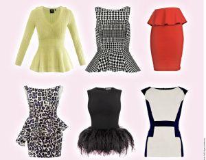 La moda de las prendas Peplum