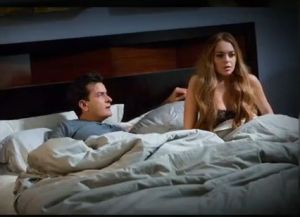 Charlie Sheen niega interés en Lindsay Lohan
