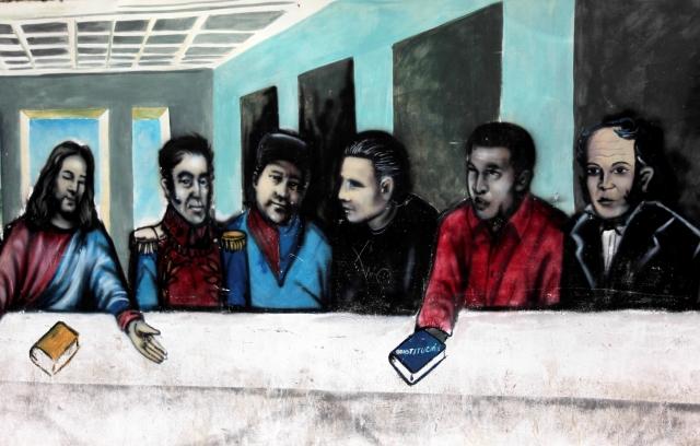 Los murales chavistas en Caracas