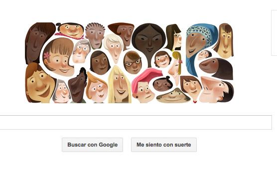 Decenas de mujeres llenan hoy doodle de Google