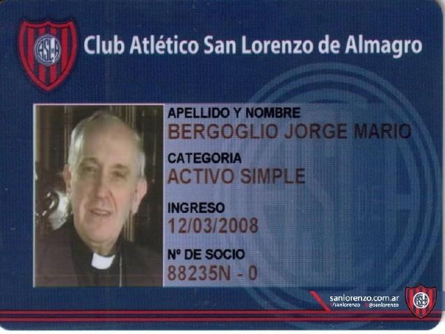 Francisco I es fanático de San Lorenzo