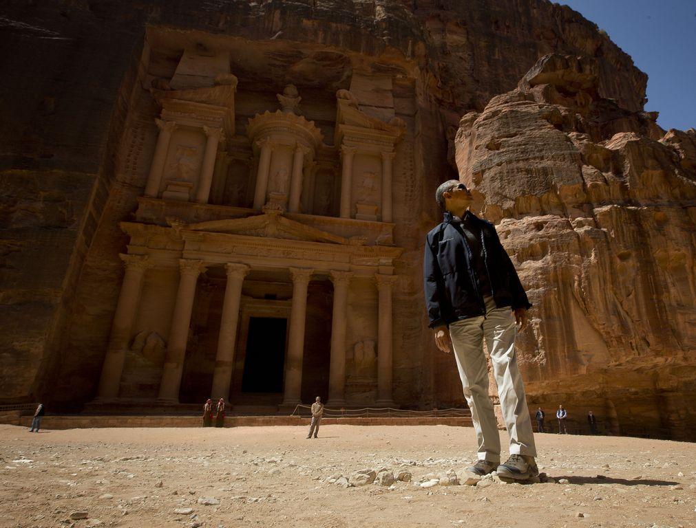 Obama finaliza en Petra visita a Medio Oriente (Fotos y Video)